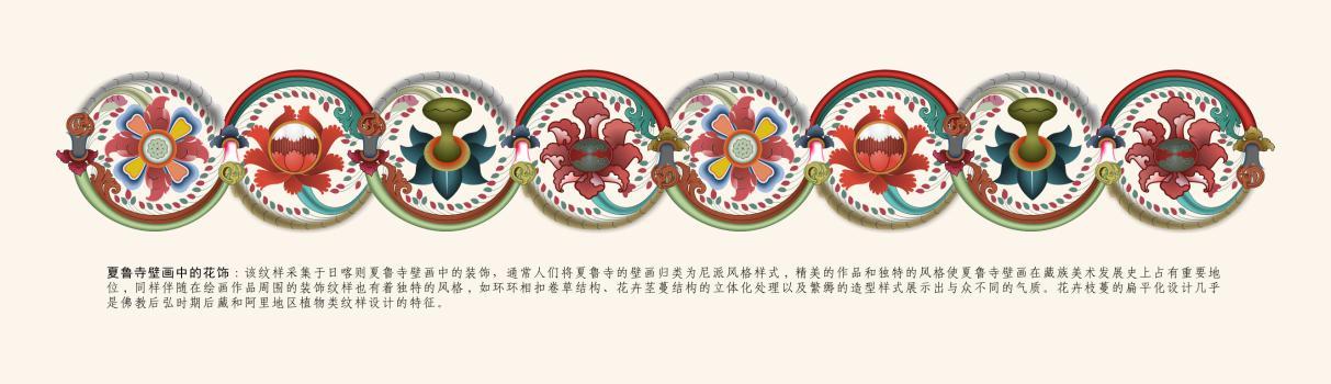 藏族风格图案手绘